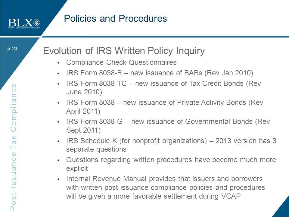 P Post Issuance Tax Compliance P Fgfoa Webinar Bond Market