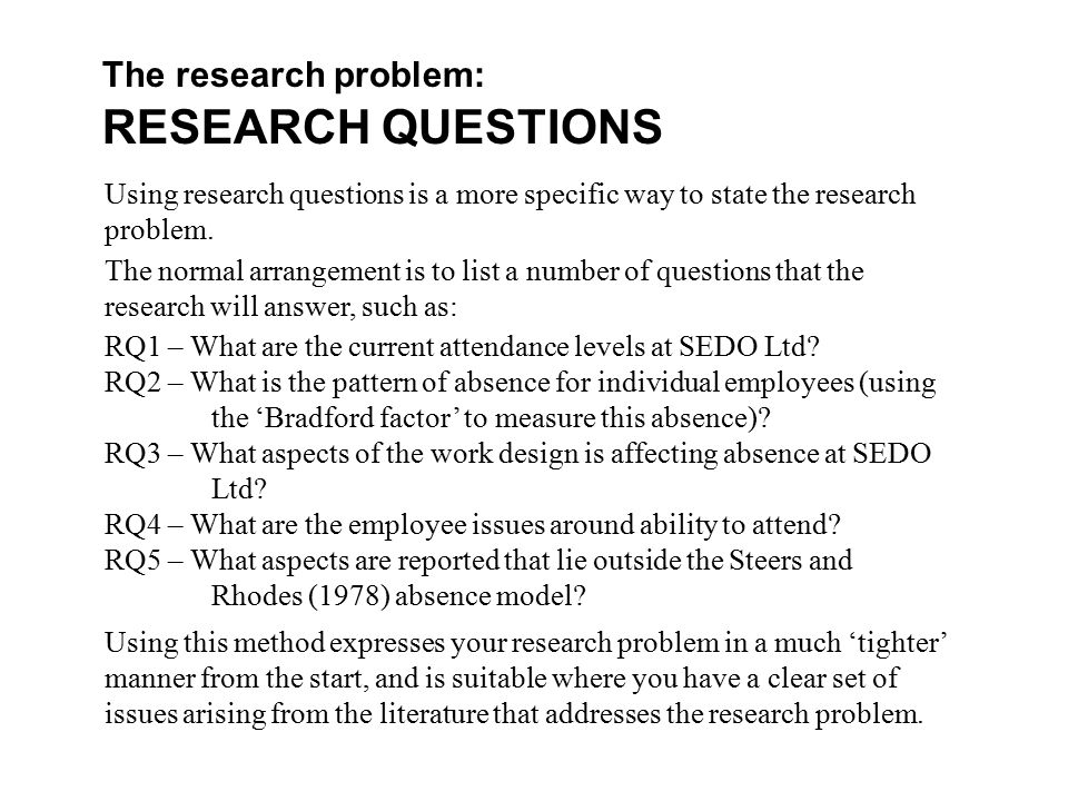 Work alone activity  RESEARCH QUESTIONS Time allowed     minutes      preparation   minutes