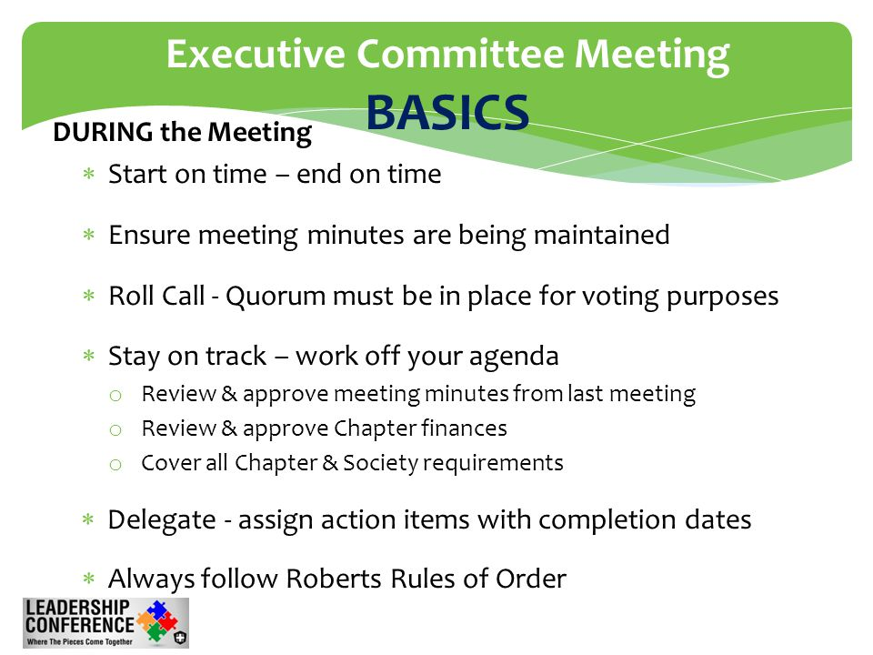 rules of order meeting minutes
