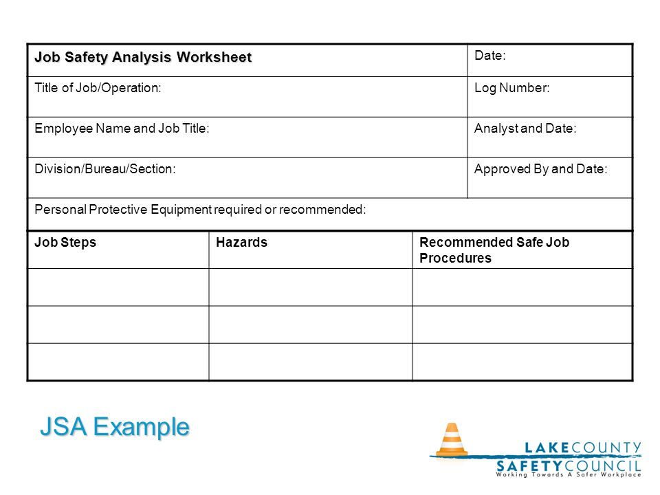 The Job Hazard Analysis Dawn Johnston Bob Siktberg March 18 ppt – Job Hazard Analysis Worksheet