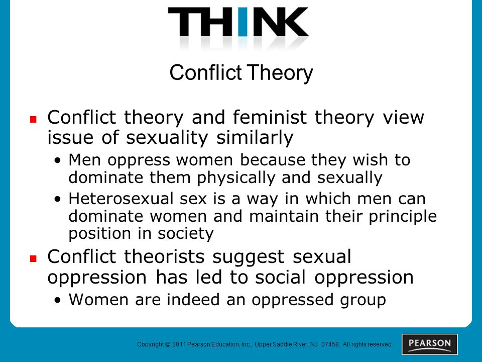 feminist theories on sexuality Four waves of feminism based on a fusion of neo-marxism and psycho-analytical theory gender, sexuality and heteronormativity.