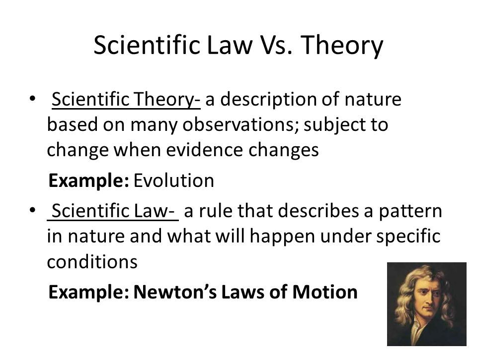 scientific method and theories