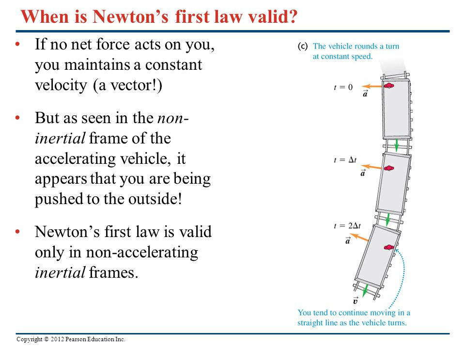 Copyright © 2012 Pearson Education Inc. When is Newton's first law valid.