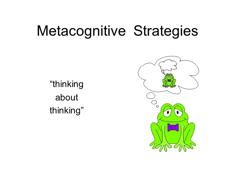 Metacognitive Strategies thinking about thinking