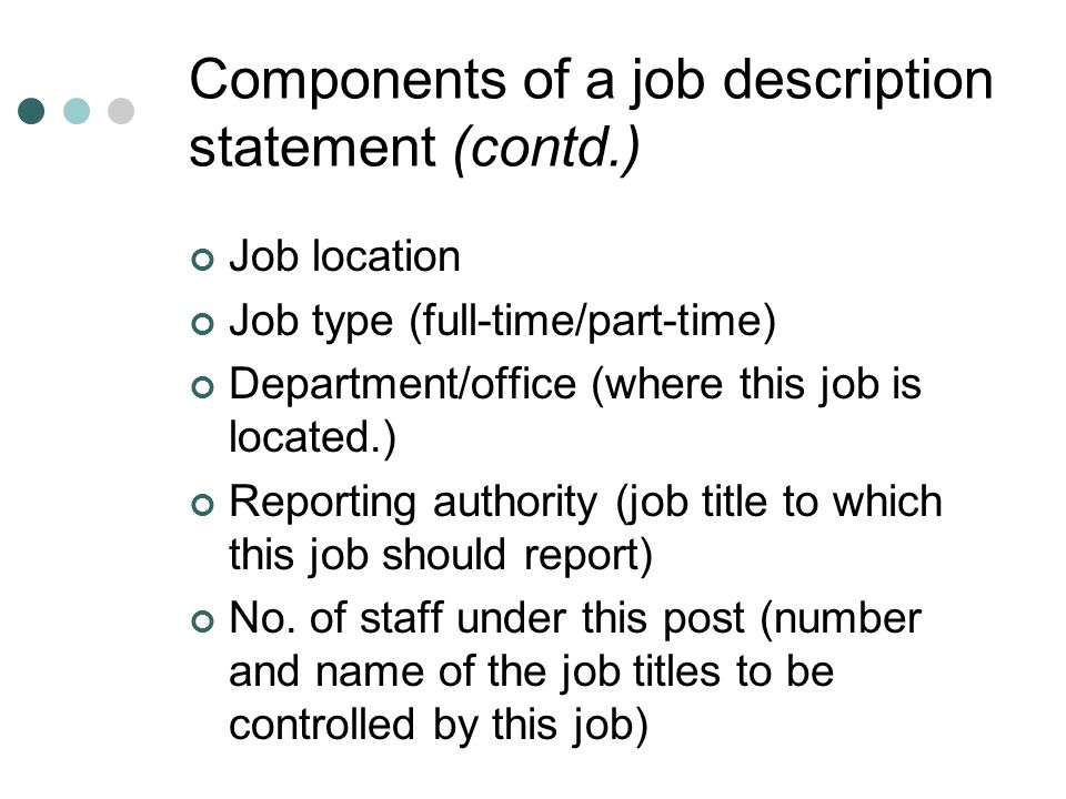 job description and job analysis report Job analysis report for demonstration pattern job match pattern the scale description provides insight into the meaning of each scale and.