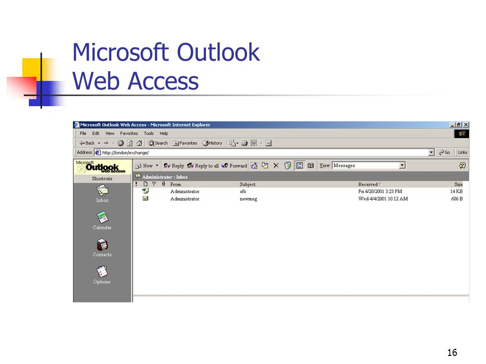 16 Microsoft Outlook Web Access