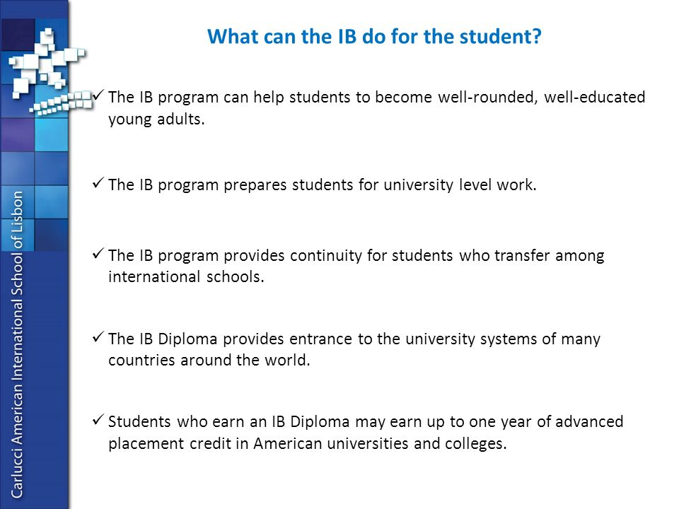 HELP What is the IB program?