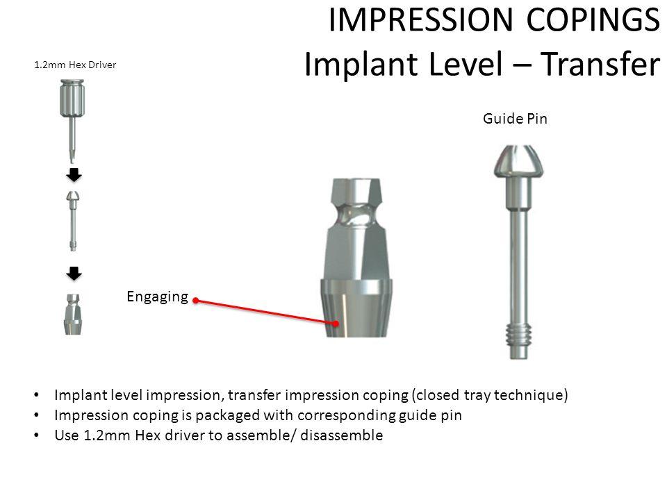 transfert ouvert implant