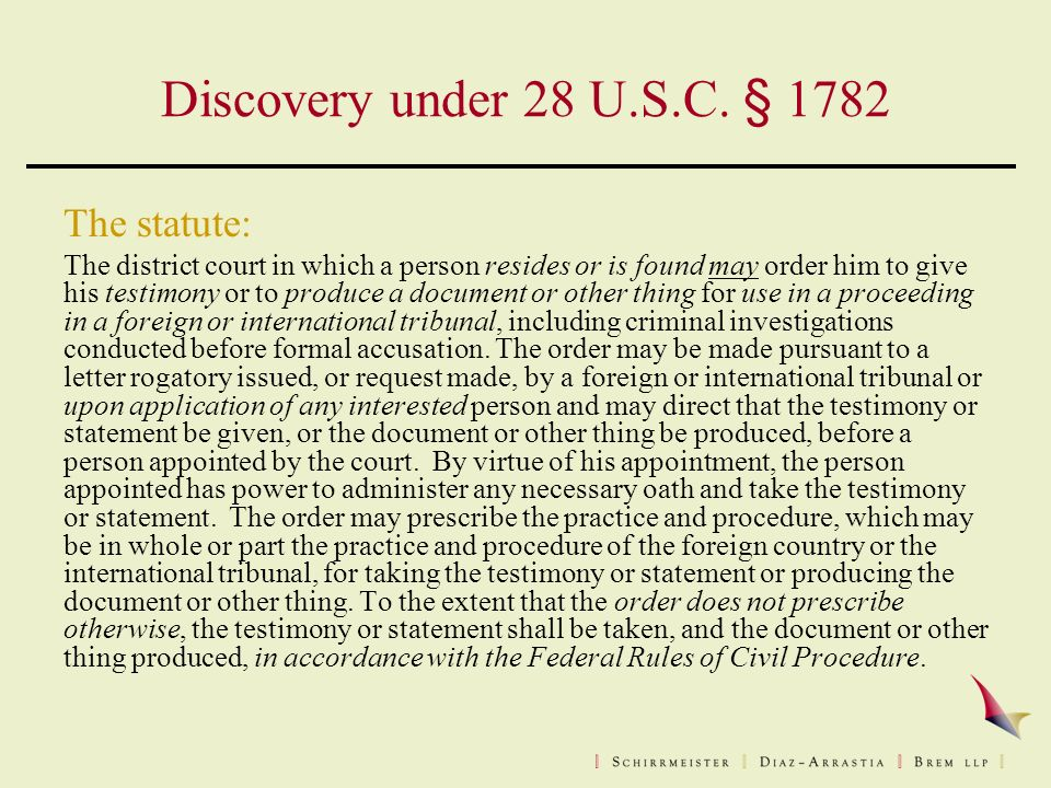 Discovery under 28 U.S.C.