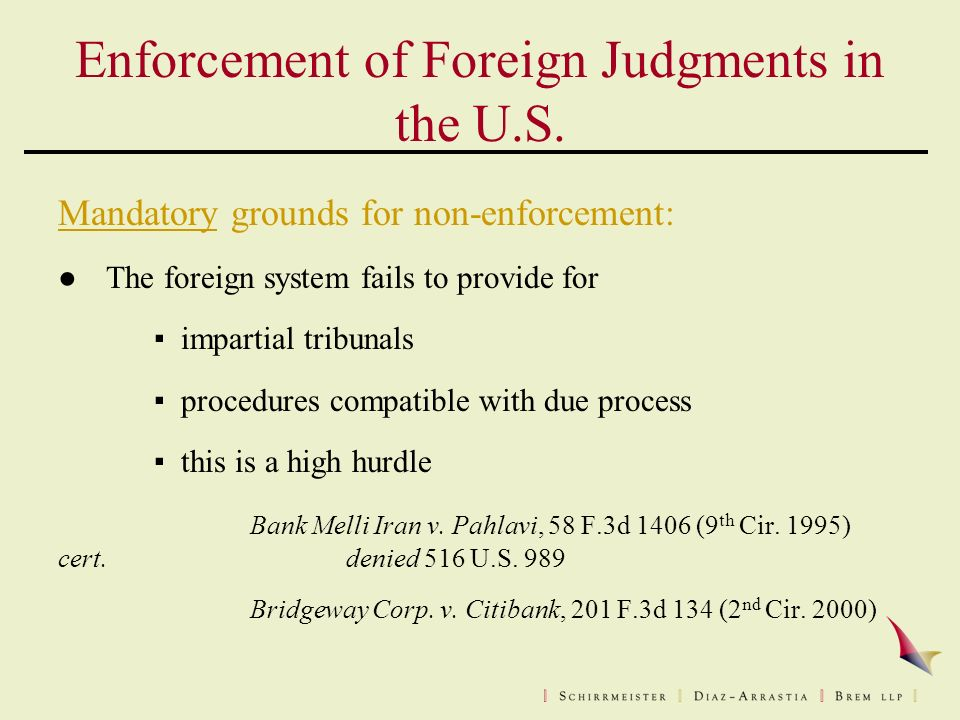 Enforcement of Foreign Judgments in the U.S.