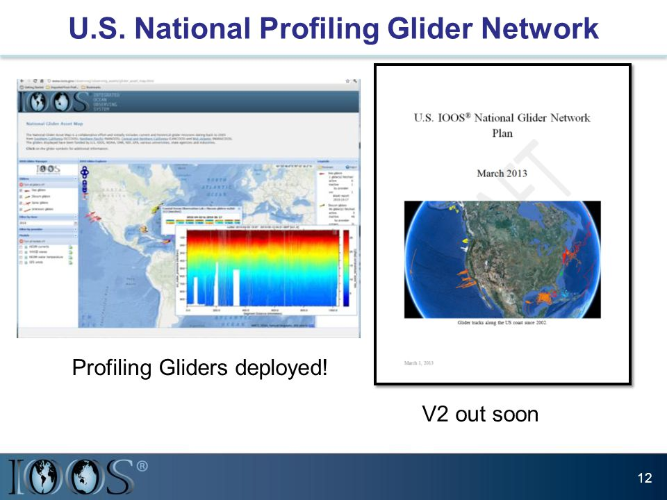 U.S. National Profiling Glider Network 12 V2 out soon Profiling Gliders deployed!