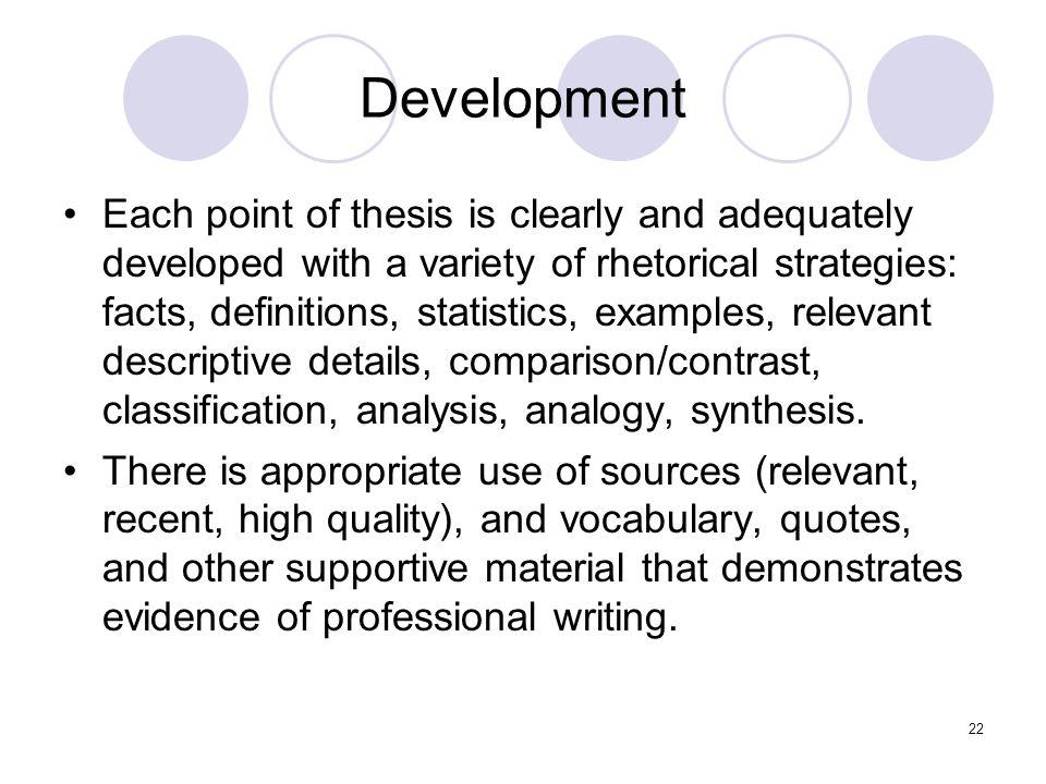 Developing an argument dissertation