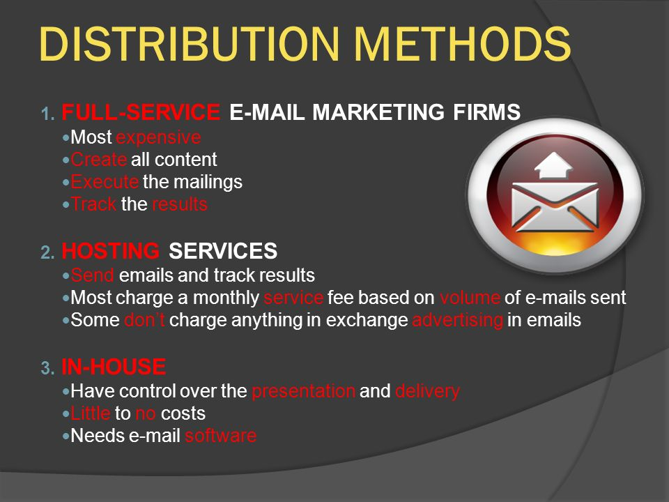 DISTRIBUTION METHODS 1.