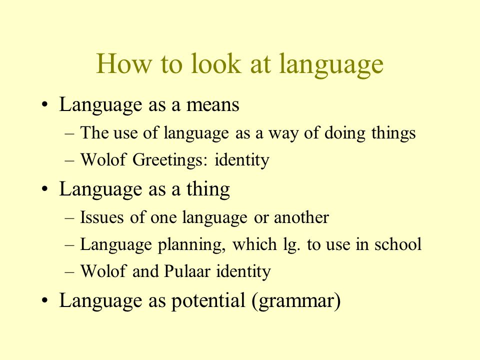 How to look at african languages david dwyer 210 ppt download how to look at language language as a means the use of language as a m4hsunfo