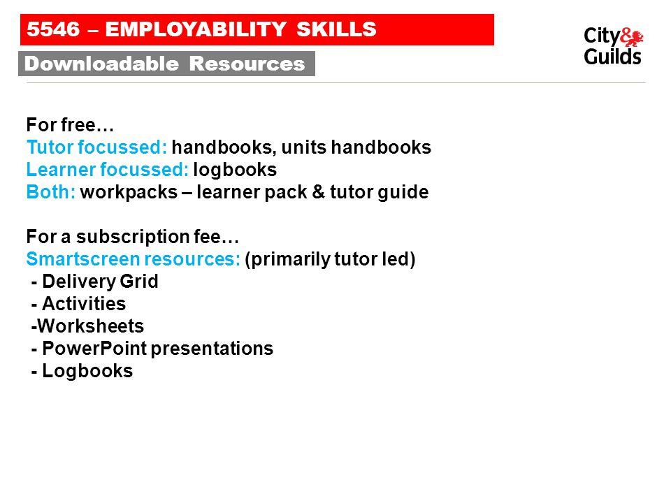 43 Qualifications - 23 Employability Skills for England & Wales ...