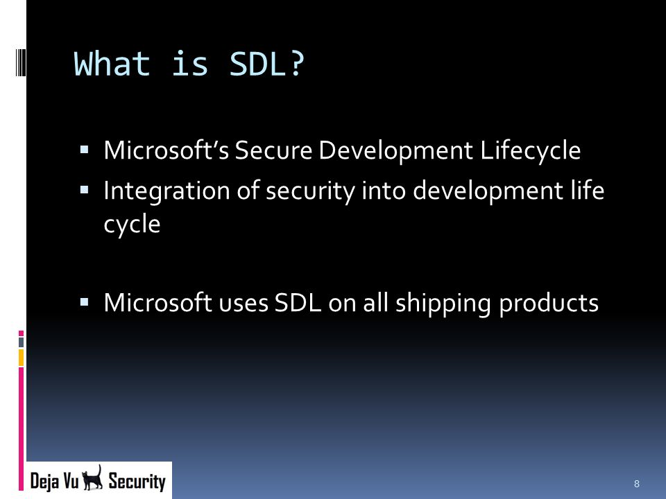 What is SDL.