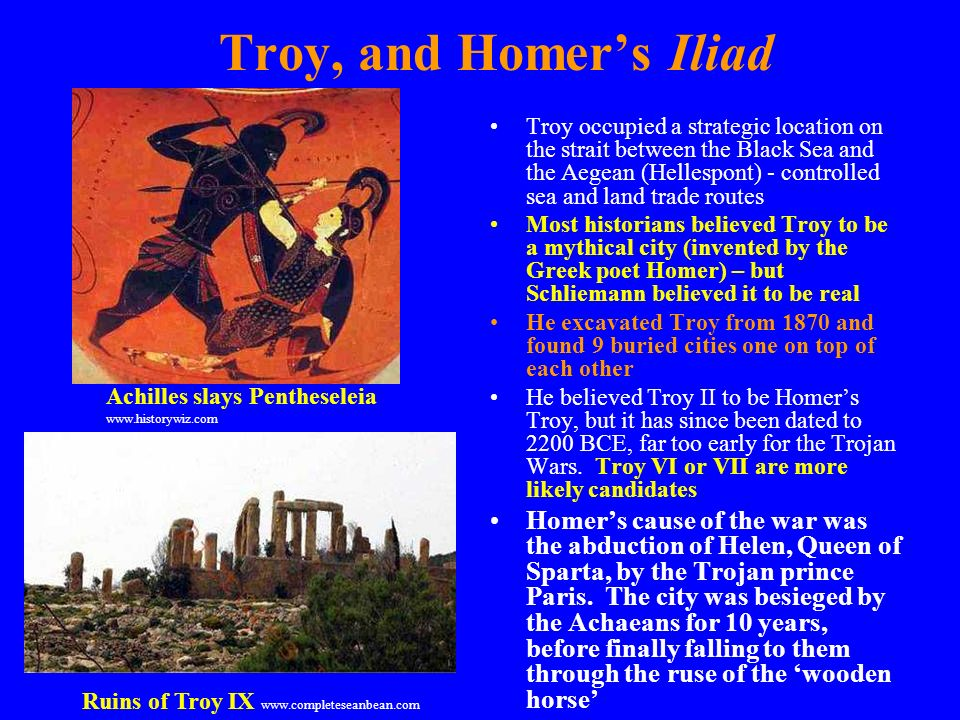 influence of iliad to troy Iliad study guide contains a biography of homer, literature essays, a complete e-text, quiz questions, major themes, characters, and a full summary and analysis.