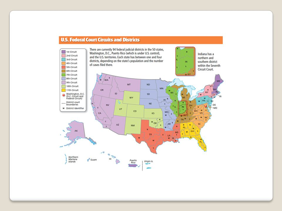 Lower Federal Courts Section The Federal Courts And The Judicial - Us federal courts map