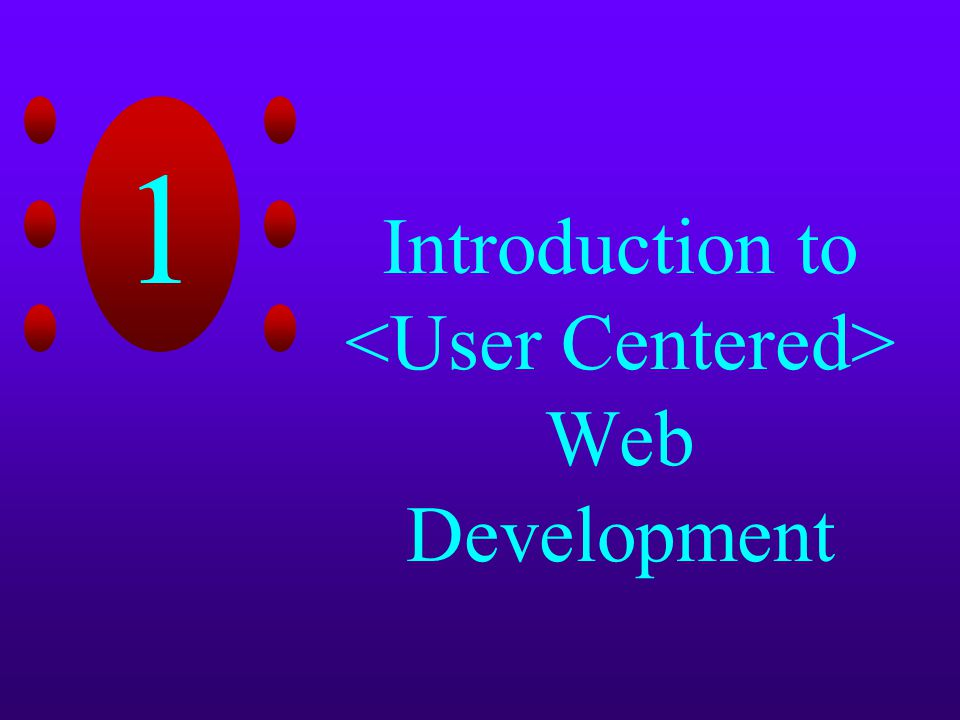 1 Introduction to Web Development