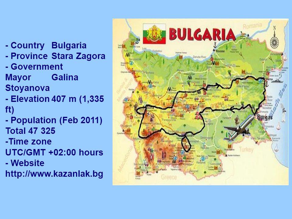 Bulgaria BulgariaKazanlak CountryBulgaria ProvinceStara - Bulgaria time zone map