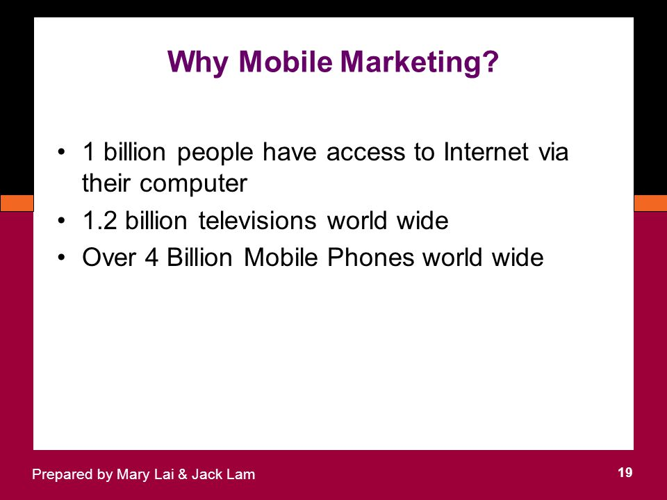 Why Mobile Marketing.