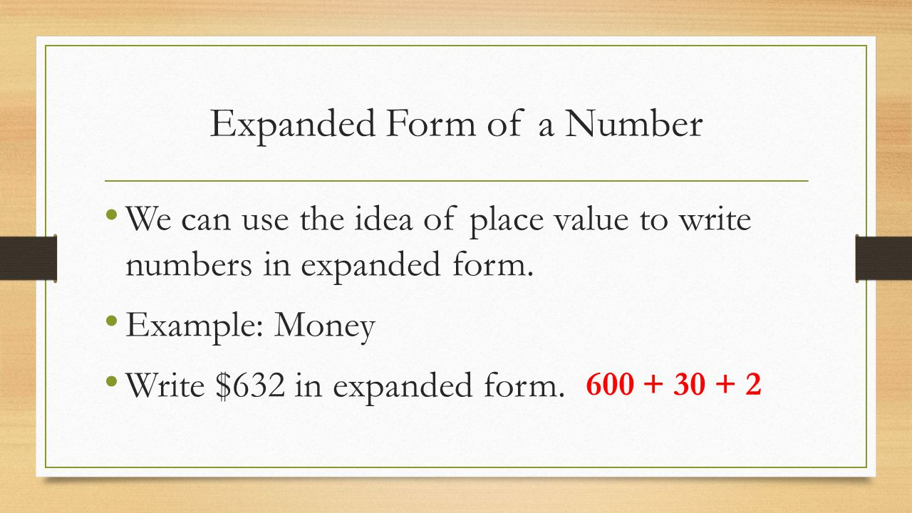 worksheet How To Write Numbers In Expanded Form r 1 place values and names of numbers math 081 catherine conway 4 expanded form