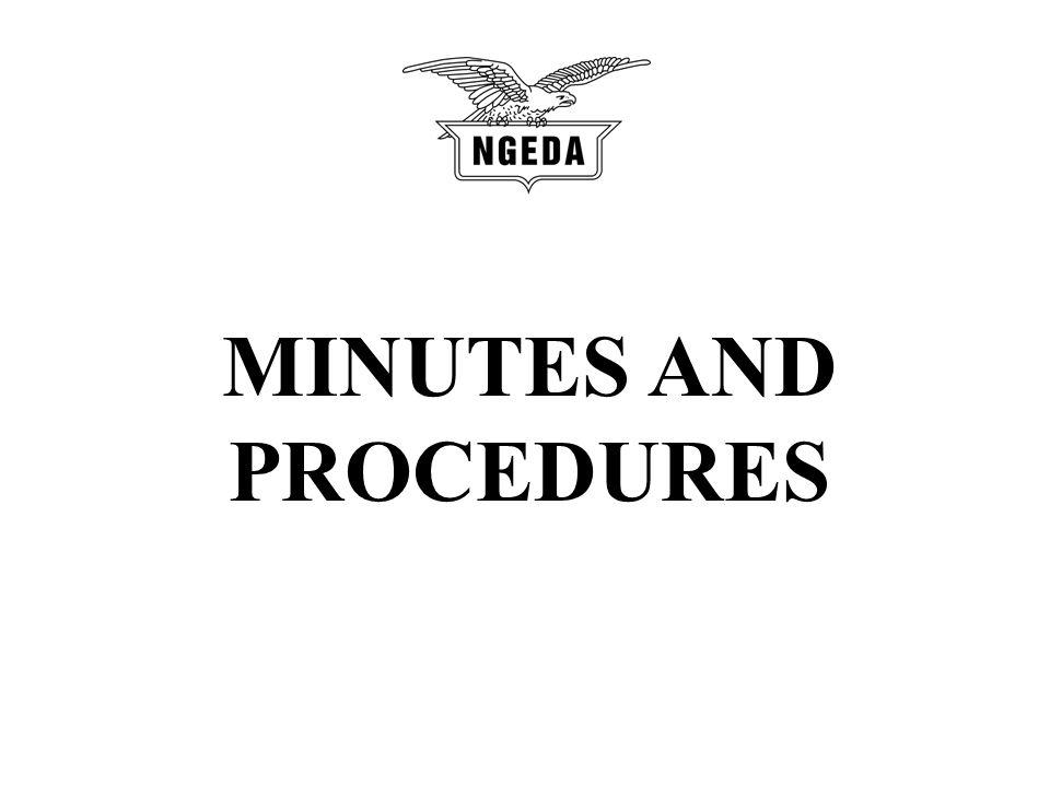 MINUTES AND PROCEDURES