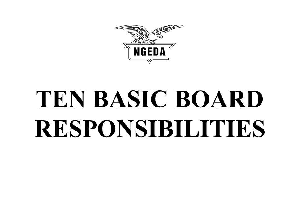 TEN BASIC BOARD RESPONSIBILITIES