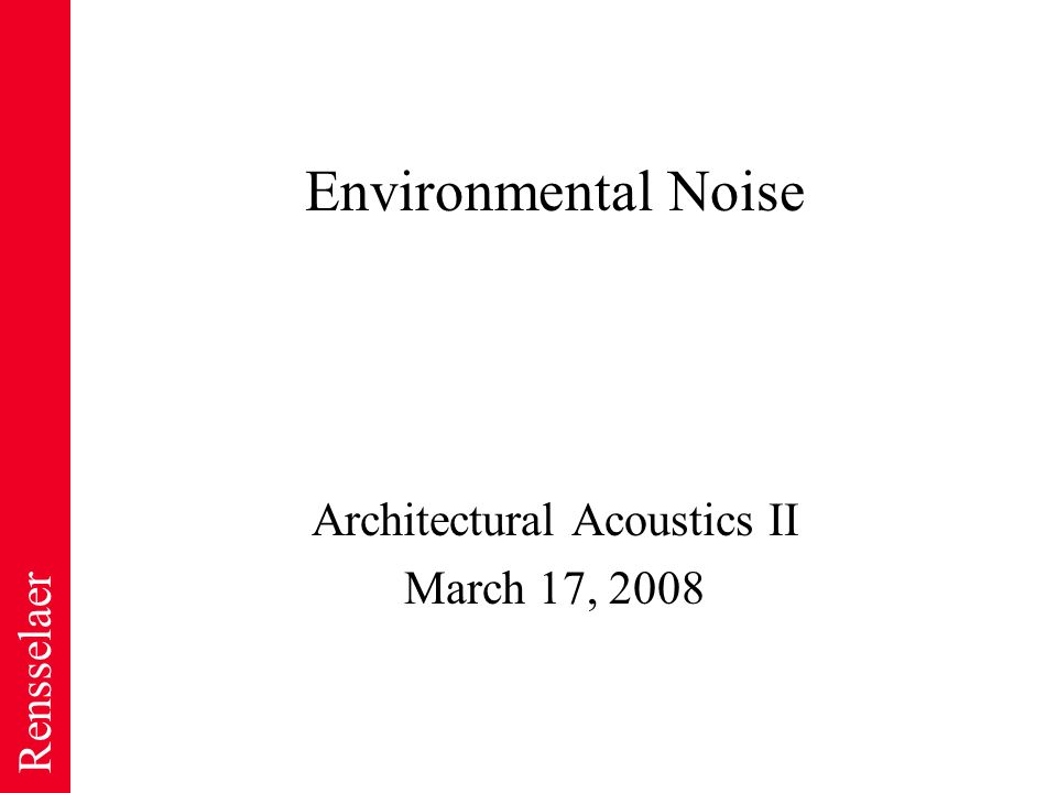 environmental acoustics essay Purdue's school of mechanical engineering conducts world-class research in robotics, automotive, manufacturing, rocket and jet propulsion, nanotechnology, and much more.
