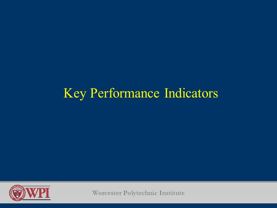 Worcester Polytechnic Institute Key Performance Indicators