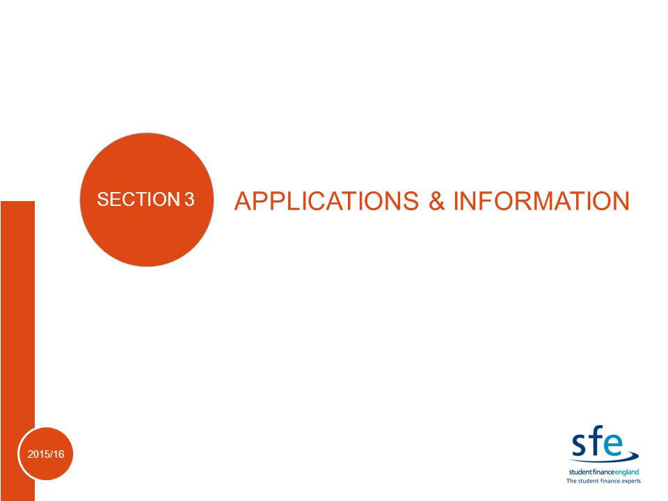 2015/16 APPLICATIONS & INFORMATION SECTION 3