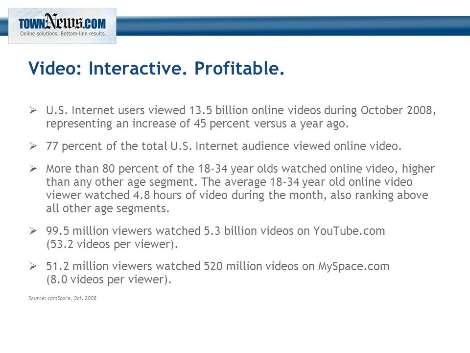 Video: Interactive. Profitable.  U.S.