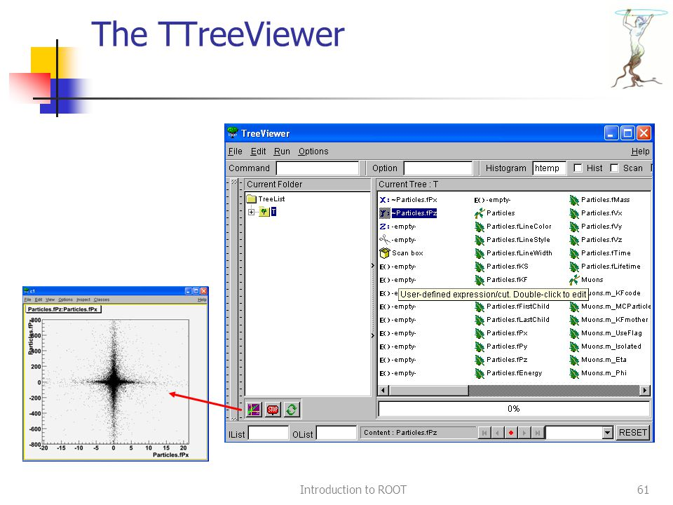 Introduction to ROOT61 The TTreeViewer