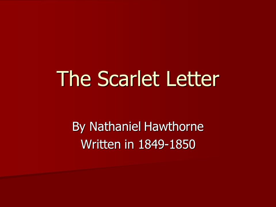 the scarlett letter essay