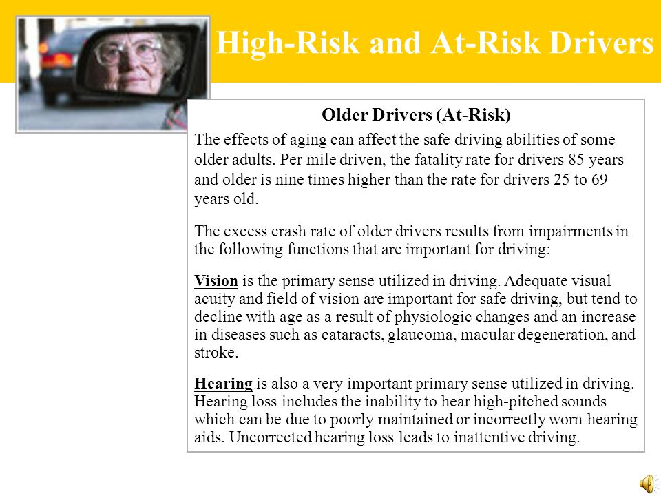 arguement paper are elderly drivers safe