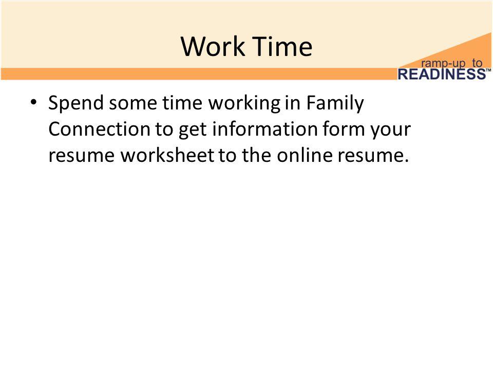 resume information form