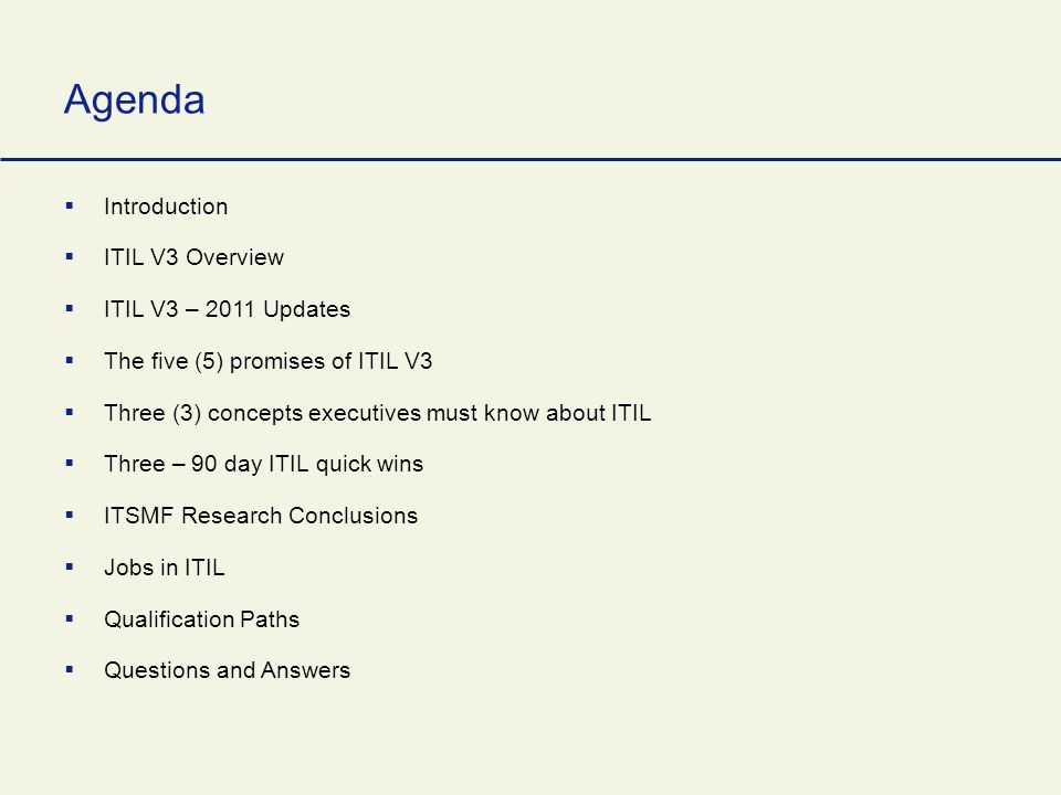an intoructory overview of itil v3