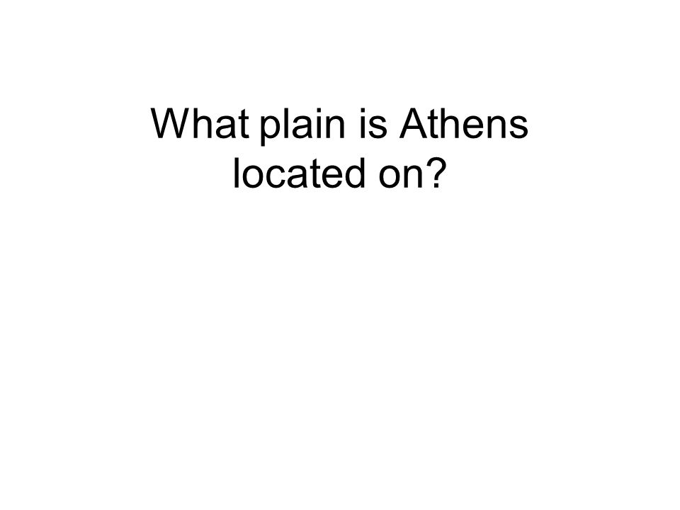 What plain is Athens located on