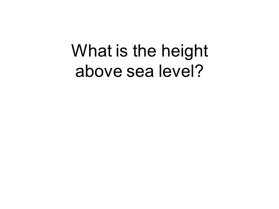 What is the height above sea level