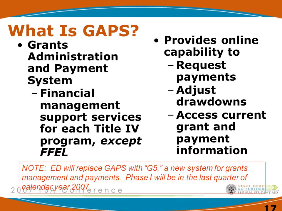 17 What Is GAPS.