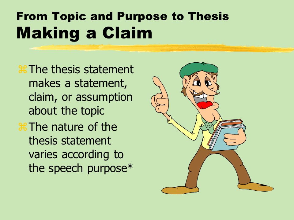 making a good thesis statement A thesis, in other words, is not the same as the thesis statement, which is a sentence or two in your introduction that tells the reader what the thesis is the thesis is not limited to one spot in your essay it runs through the whole thing, from start to finish.