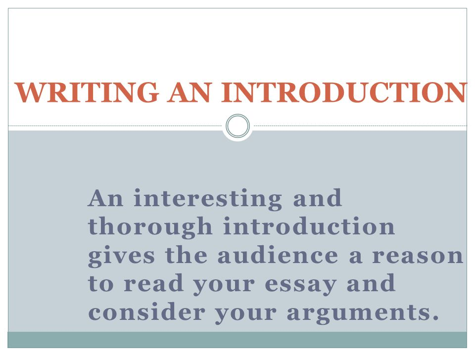 Great introductions for essays
