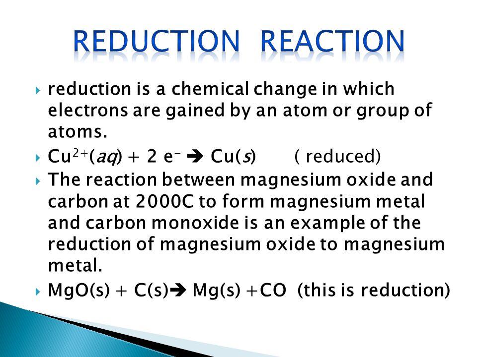 chemical change analysis