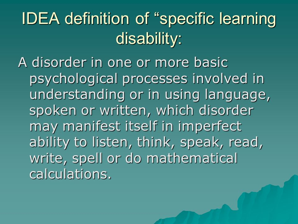 understand the nature and characteristics of learning disability Possible referral characteristics specific learning disability 2 6 difficulty understanding meaning of time and learning disability.