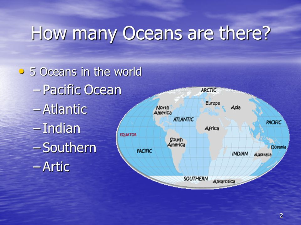 The Ocean Around Us Sixth Grade Ms Kristina Bailey Ppt Download - How many oceans in the world