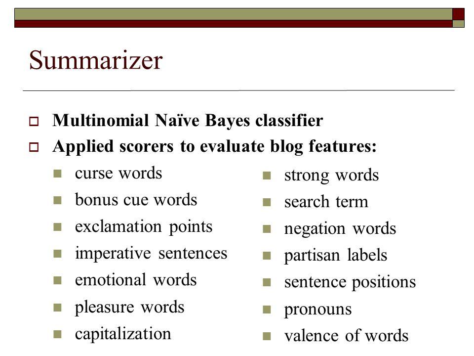 Summarizer in own words