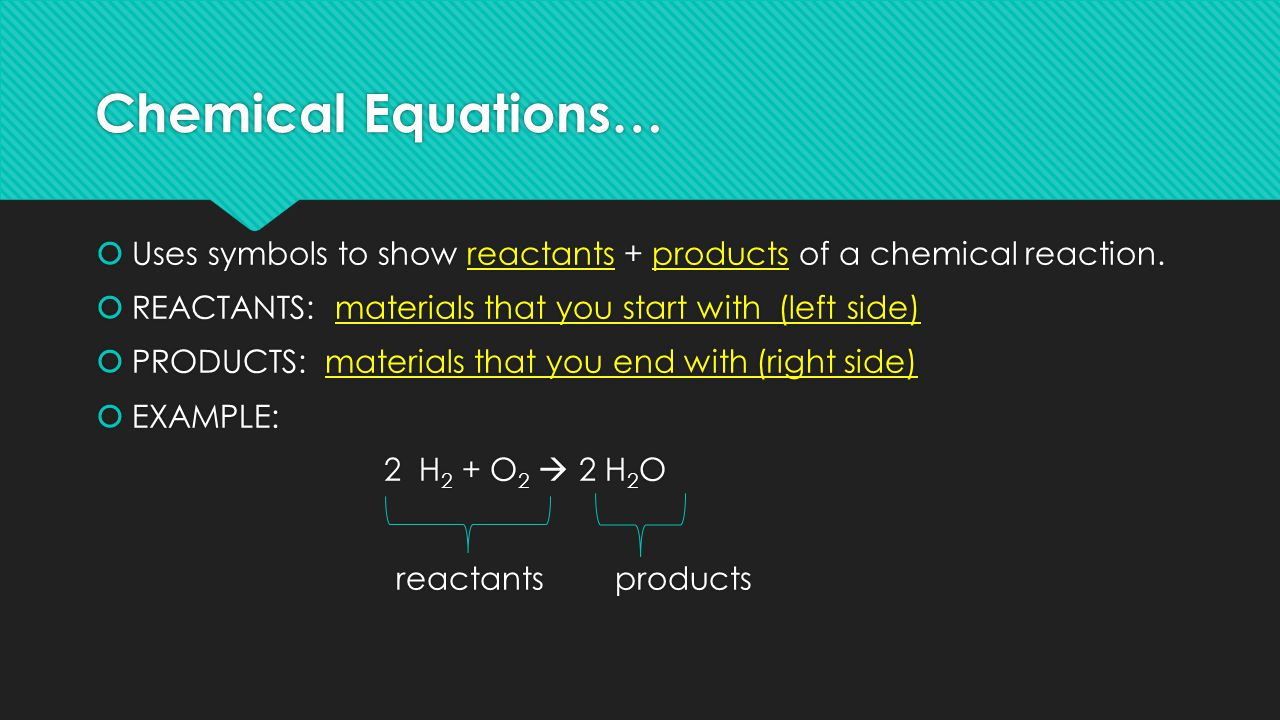 Chemical reactions notes chemical reaction definition when chemical equations uses symbols to show reactants products of a chemical reaction biocorpaavc Choice Image