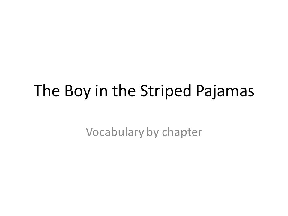 essay questions on the boy in the striped pyjamas The boy in the striped pajamas theme essay while reading this novel, we have briefly discussed the different topics in the novel now, you are going to choose a topic and develop a sentence about that topic that shows a possible theme found in the novel.