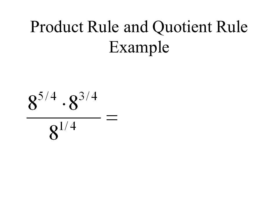 Product Rule and Quotient Rule Example
