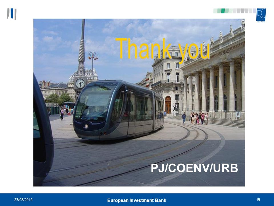 23/08/ European Investment Bank PJ/COENV/URB